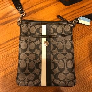 Coach Gray & Black Crossbody